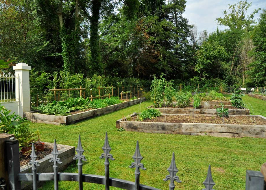 Kitchen garden at Le Moulin